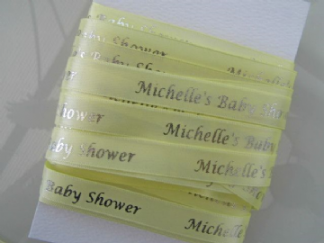 Lemon Baby Shower Ribbon - 5 metres